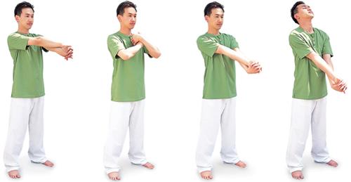 手首、肩関節をほぐすストレッチ